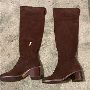 Michael Kors Heeled Brown Suede Boots